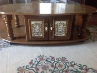 3 Piece Oak Coffee Table and End Table Set
