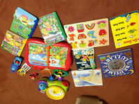 Toddler toy lot includes vtech learner with 4 books and much mor