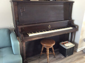 FREE -  upright piano and stool