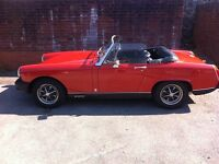 MG Midget Red Convertible