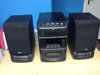 JVC Triple CD mini HiFi system