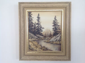 SMALL WINTER SCENE PAINTING BY MARY KENDRICK