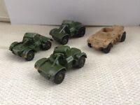 Four - 1950s DINKY Military Cars