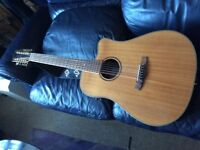 TANGLEWOOD 12 STRING ELECTRO ACOUSTIC GUITAR and SOFT CASE