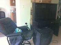 Free chair, table, matress, TV for self pick-up