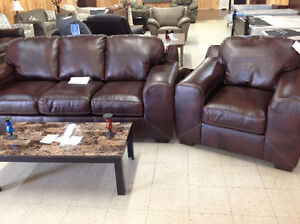 Brand new Bonded leather SOFA AND CHAIR SET. TAXES INCLUDED.