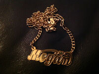 Gold Necklace 14 carat With Name - MEGAN
