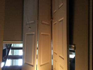 6 panel solid core door and matching bifold