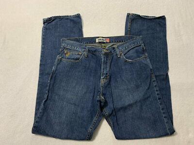 Quicksilver Quikjean 34 x 35 Relaxed Denim Blue Jeans Mens