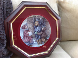 "Framed collector plate "" Caring hands and hearts"""
