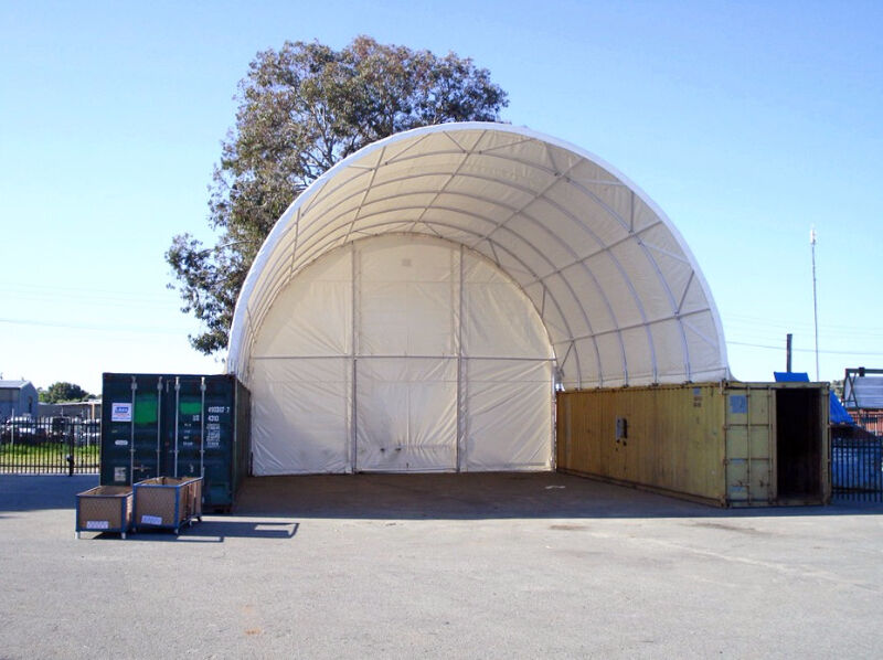 Heavy Duty 20x40 Dome Container Storage Shelter Outdoor