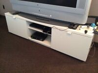 White IKEA tv stand mint condition