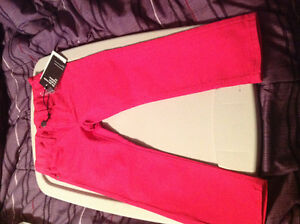 MEXX pink jeans NEW with tags size 4/5 but fit big adjustable