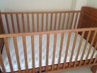 Cot bed, with drawer and mattress