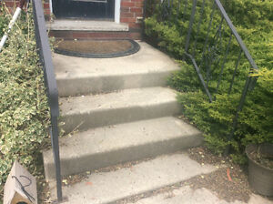 Cement stairs with railing