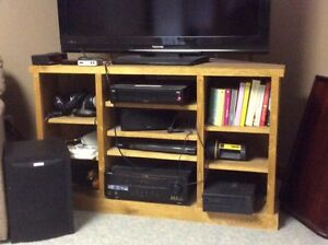 Custom made  Red Oak Television Stand for sale.
