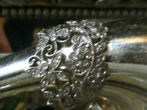 Vintage Diamond White 10KT Gold Ornate Rings