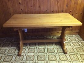 Retro 1970s Pine Kitchen/Dining Table
