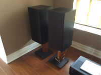 2 speakers and a Denon Reciver