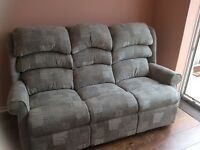 Three seater sofa. Brand new and unused. Bought for £1100. Will sell for £600 or nearest offer.