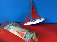 Vintage Scalex Boats Diana Ocean Racing Pond Yacht
