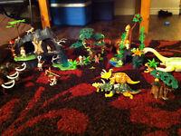 mega playmobil lot  cave jungle dinosaurs