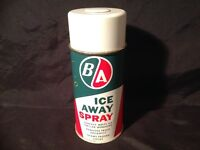 BRITISH AMERICAN B/A OIL COMPANY ICE AWAY SPRAY CAN ( VINTAGE )