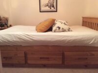 Solid Pine Small Double Storage Bed Frame (4'0 and six drawers) Worth £509.85