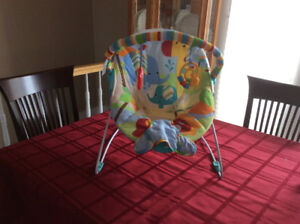 Baby swing and bouncy chair