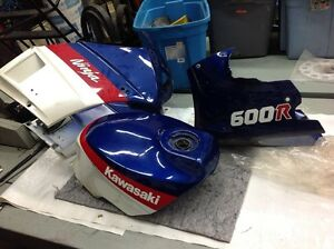 Fairings and tank for 85-87 Ninja 600