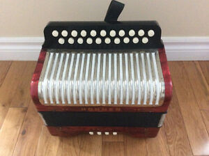 Hohner Erica button accordion, AD. St. John's Newfoundland image 1
