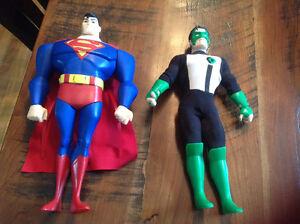"2 12"" action figures superman green lantern"