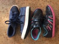 Girls trainers / shoes size 3f. Also F&F shoes size 3.