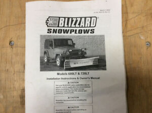 Blizzard Hydraulic Snow Plow