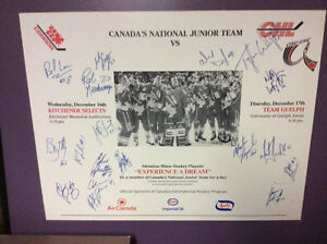 '92/93 Canada World Jr. Hockey Team Autographed Mounted Poster