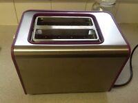 Lovely 2 slice purple toaster