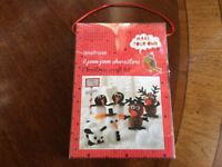 NEW WAITROSE POM-POM CHARACTERS CHRISTMAS CRAFT KIT
