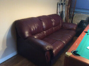 Leather sofa and reclining chair St. John's Newfoundland image 1