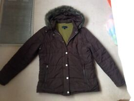 Boden Brown Padded Coat, Size 16