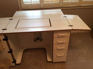 Sewing quilting desk