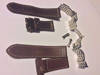 Steel Brietling Navitimer and Leather Panerai watch straps