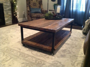 Industrial/farmhouse coffee table and console