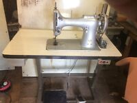 Singer industrial leather sewing machine very heavy duty will sew thick leather