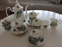 "Vintage Royal Albert ""Trillium"" tea set $200."