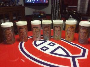 6 verres steinberg de joueurs des canadiens années 60, rare