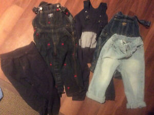 Boys denim and overall lot