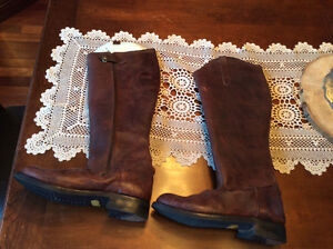 Texana Leather Horse Riding Boots women's Size 10