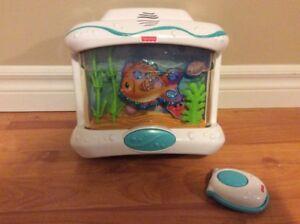Musical Crib Aquarium with Remote