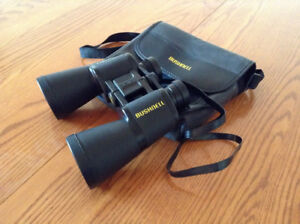 Bushnell Porro-Prism Powerview Binoculars and Case – Mint Condit