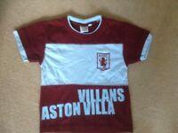 Aston Villa T-Shirt age 3-4 Years